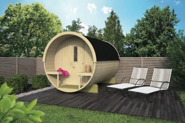 Sauna tonneau Ø195 x L250 cm