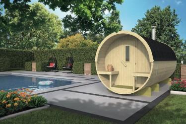 Sauna tonneau Ø215 x L350 cm