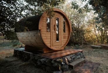 Sauna tonneau thermowood Ø...